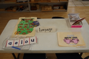 language learning accessories at preschool in sugar land