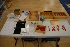 math learning accessories at preschool in sugar land