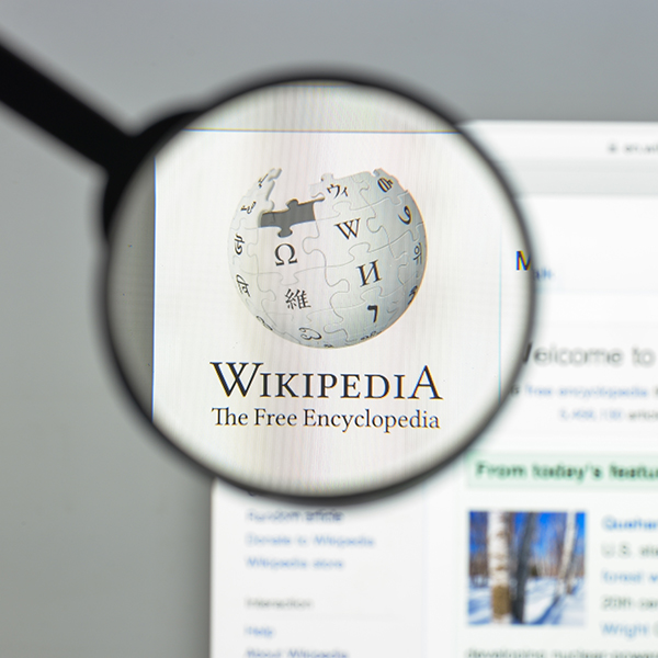 picture of Wikipedia website